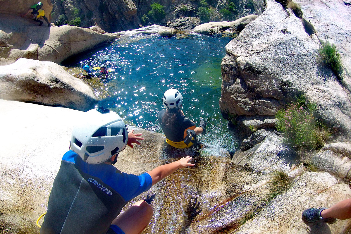 Canyoning a Pitrisconi Prima calata